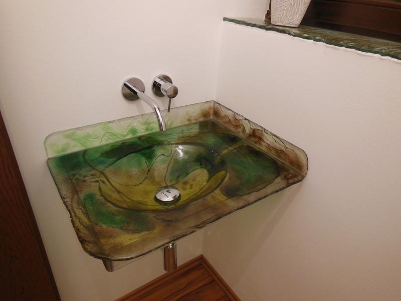 glas waschbecken fabulous waschtisch ein becken wei glas. Black Bedroom Furniture Sets. Home Design Ideas